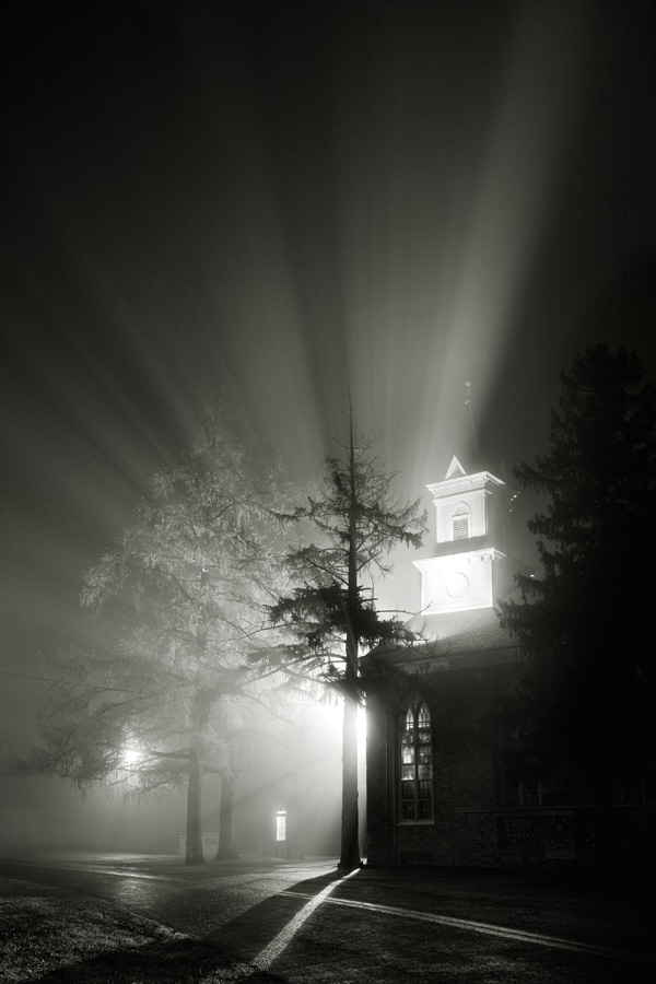 Foggy Night, Durham Church