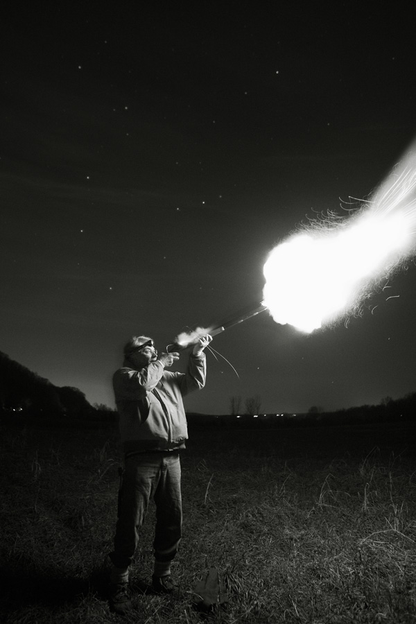 Tom Firing His Musket Under the Stars, Uhlerstown