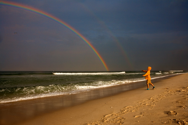 Double Rainbow, Island Beach