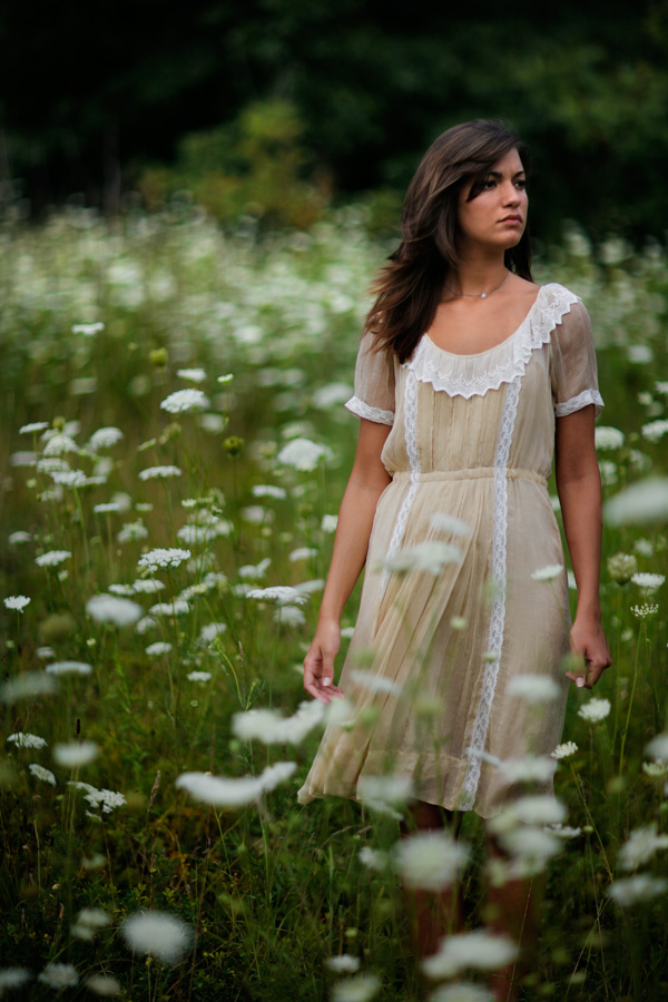 Jenn in Queen Anne's Lace (<i>Daucus carota</i>)