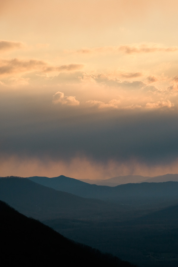 Blue Ridge Mountains, 7:30 p.m.