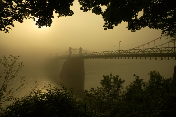 Riegelsville-Roebling Bridge at Dawn