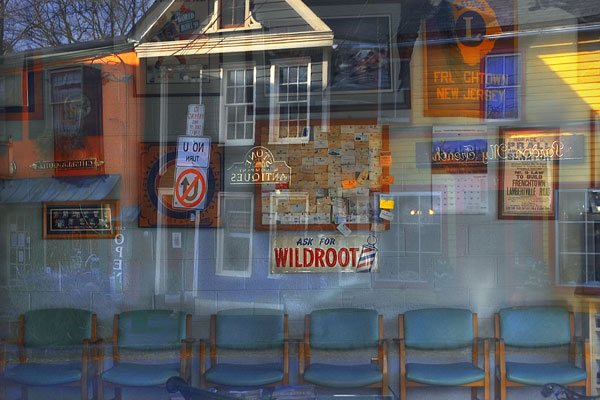Frenchtown Barbershop, East Window