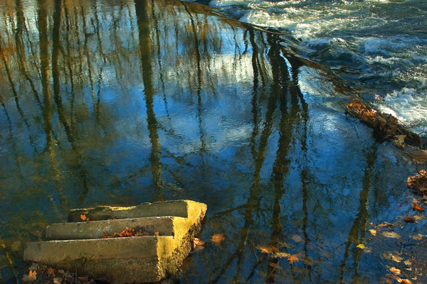 Stairs in the Musconetcong River